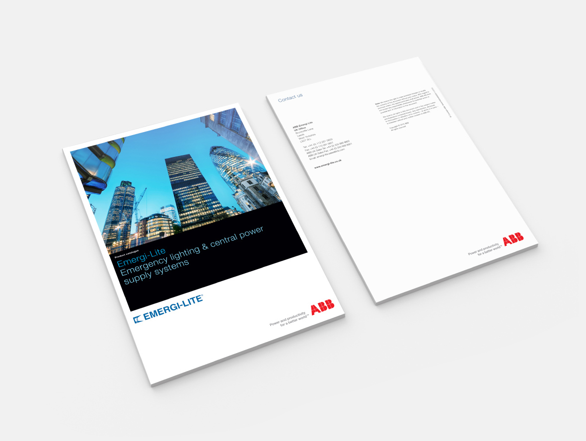 abb emergi-lite catalogue print