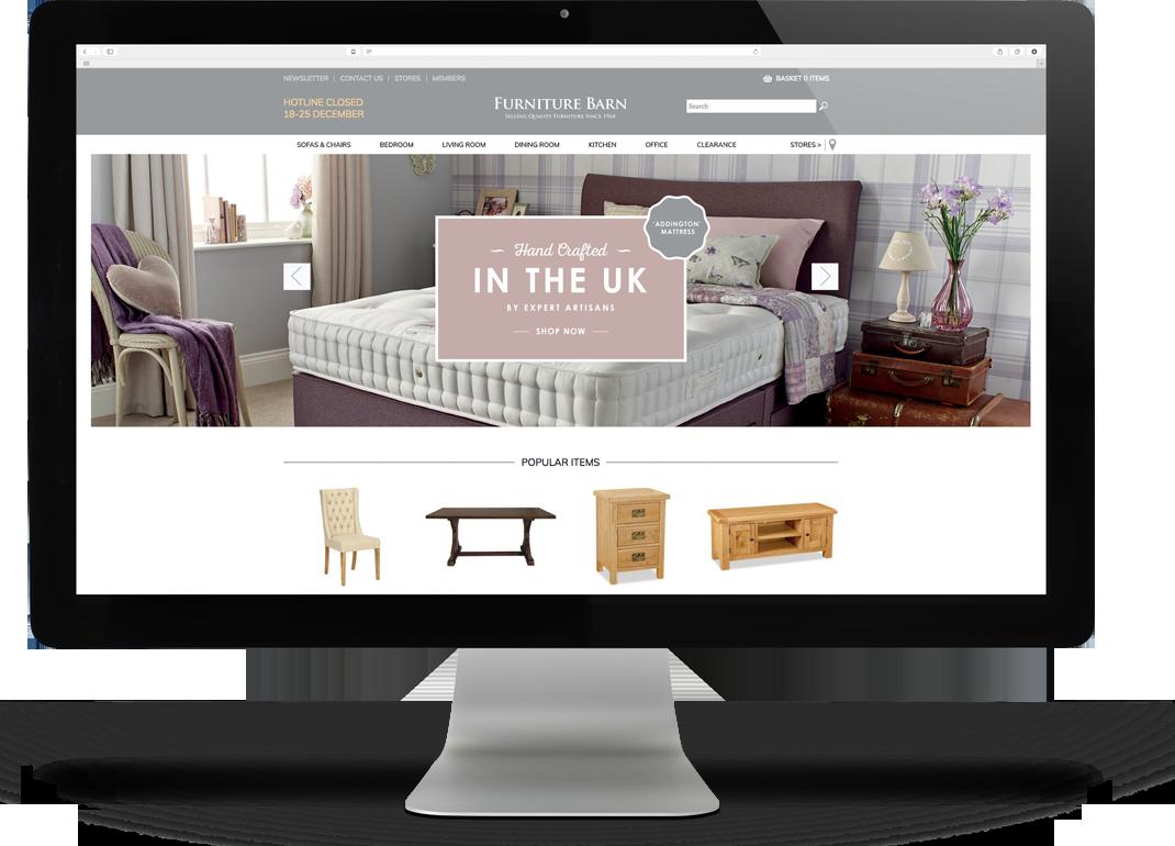 Furniture Barn Web Design