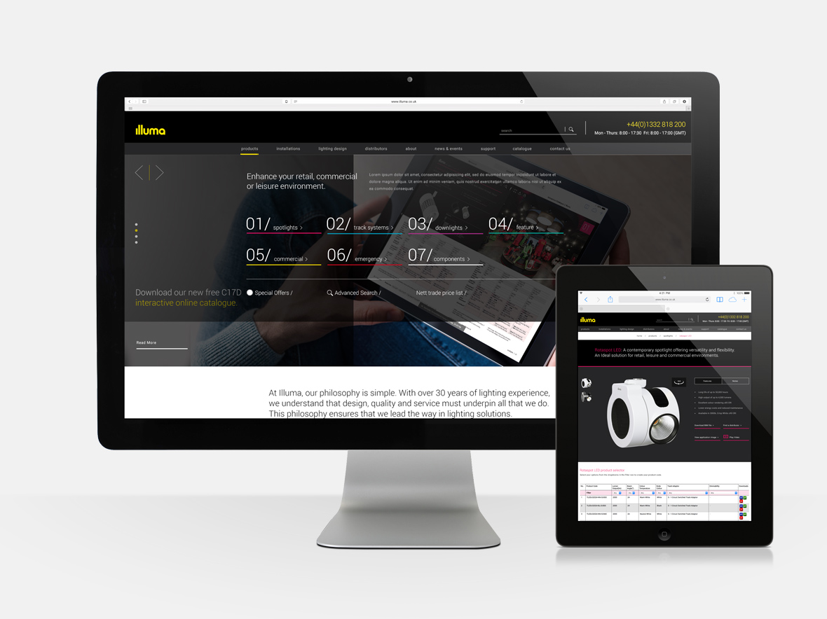 illuma web design