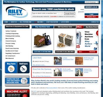 Riley Surface World website re-launched