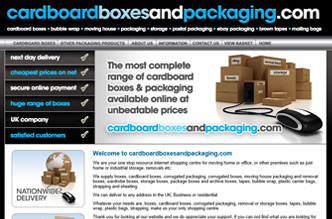 New Website Launched: CardboardBoxesandPackaging.com