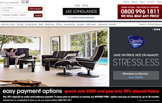 eCommerce web design lee longlands